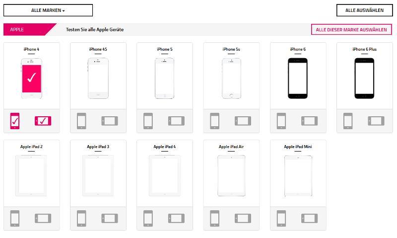 Homepage-Ausschnitt der Seite www.responsive.cc zum Testen der mobilen Responsive
