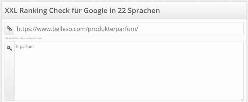 Screenshot Tool XXL Ranking Check für Google