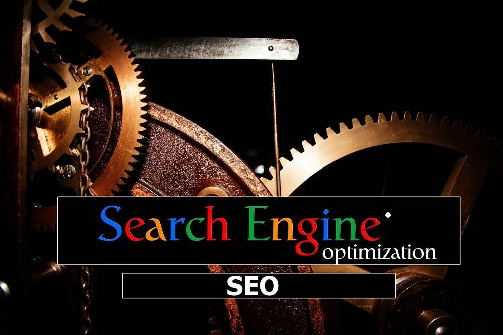 Grafik mit Zahnrädern zum Thema Google Ranking verbessern