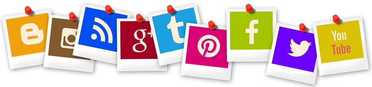 Bild mit Logos der sozialen Medien für den SEO Grundlagen Guide