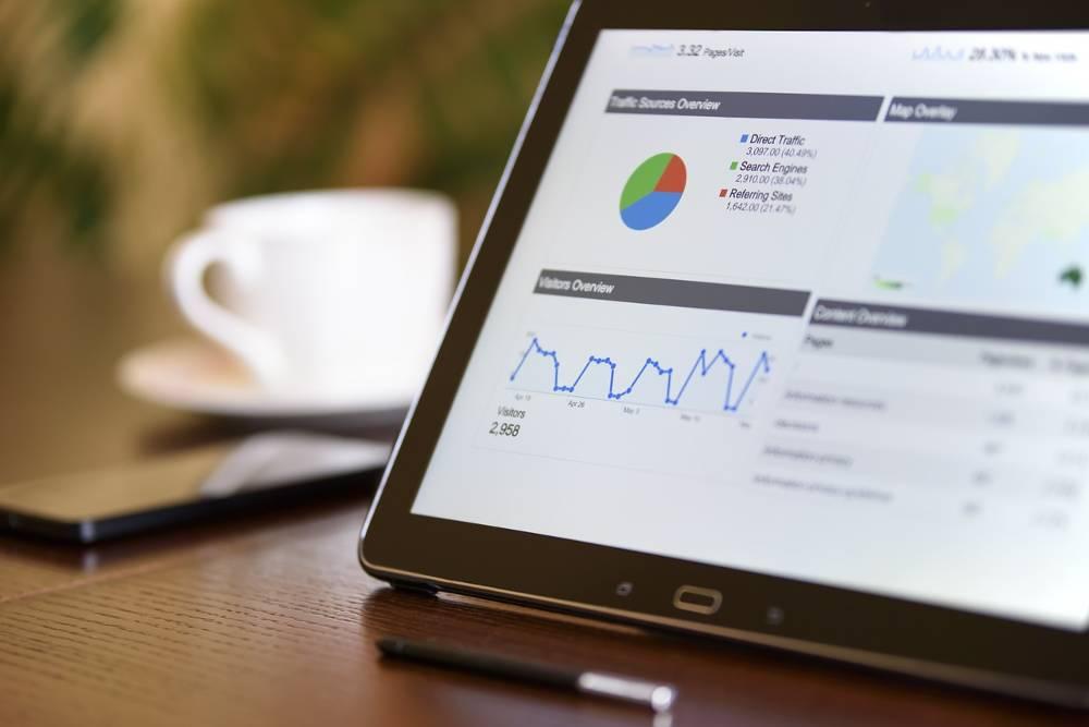 Analyse Grafik als Arbeit vom SEO Optimierung Experten