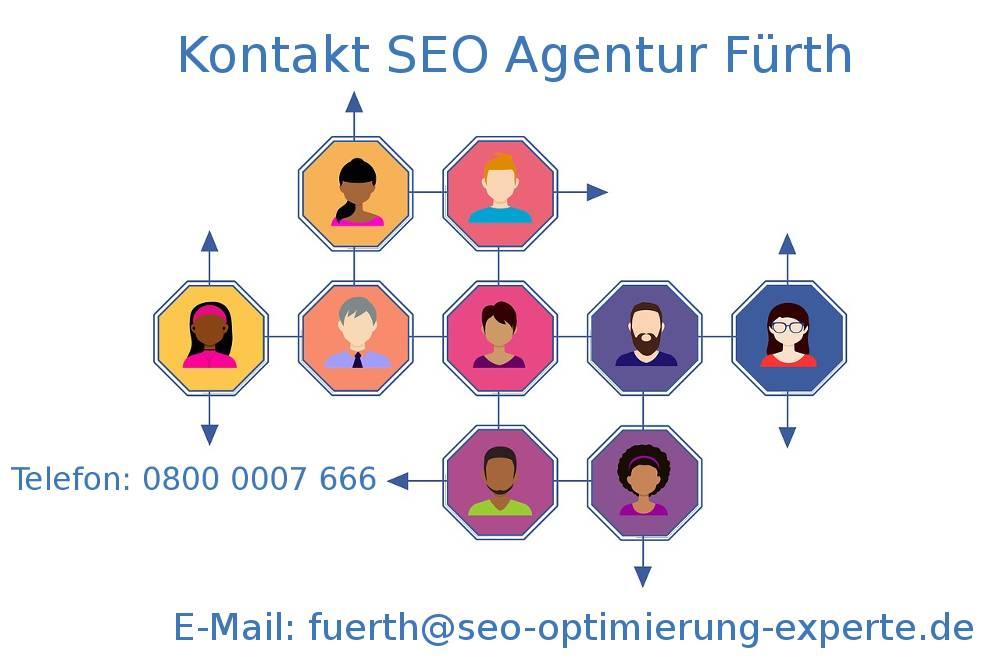 Auf dem Bild finden Sie die Kontaktdaten der SEO Firma Fürth