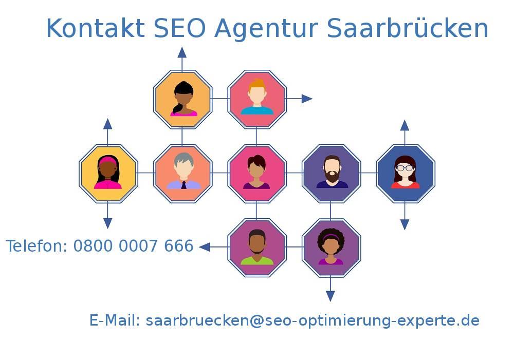 Auf dem Bildnis befinden sich die Infos unserer SEO Firma Saarbrücken SEO Agentur