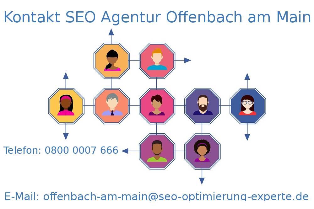 Auf dem Foto befinden sich die Daten unserer SEO Firma Offenbach am Main