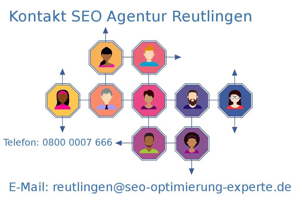 Auf dem Bild befinden sich die Infos der SEO Agentur Reutlingen