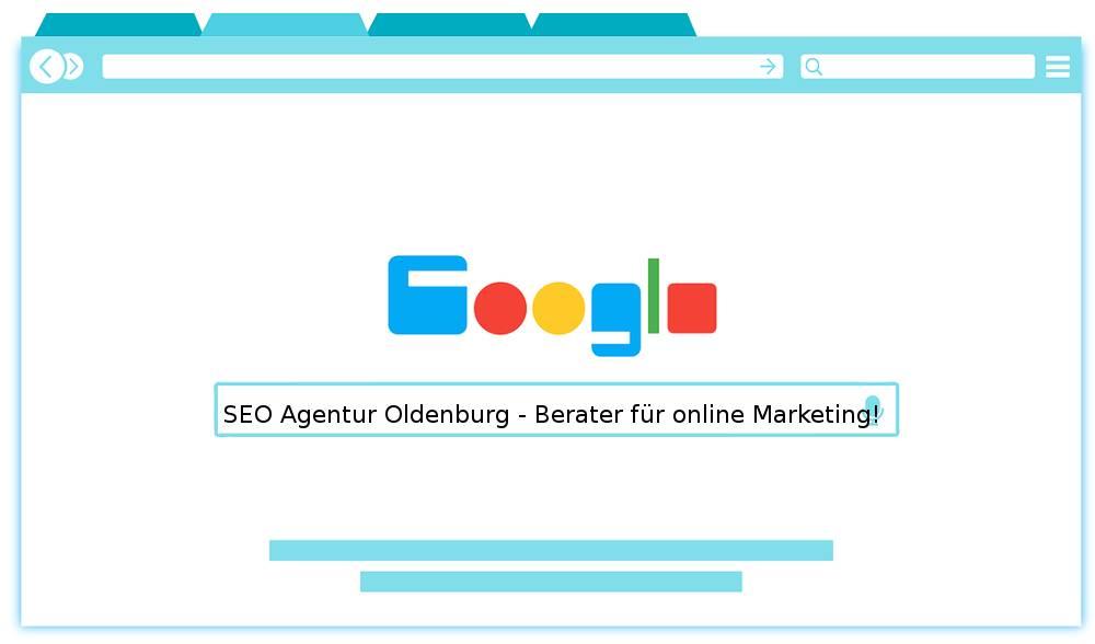 Auf dem Bildnis finden Sie der Werbespruch der SEO Agentur Oldenburg