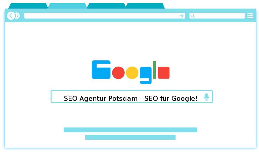 Auf dem Abbild befindet sich die Devise von der SEO Agentur Potsdam
