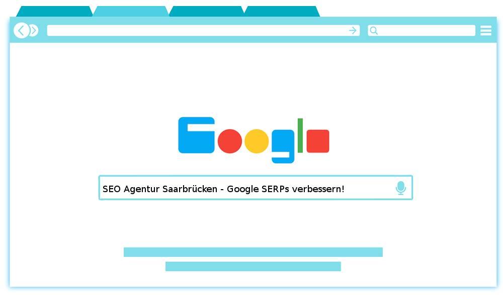 Bild SEO Agentur Saarbrücken - Google SERPs verbessern!