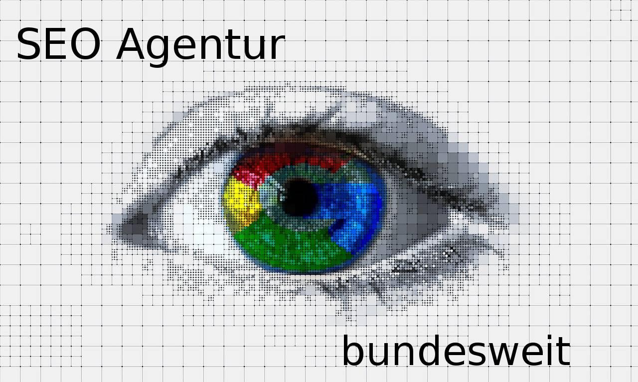 Grafik mit Auge und der Aufschrift SEO Agentur bundeweit