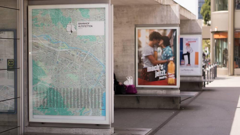 Foto mit Plakatwänden zum Thema Außenwerbung NRW