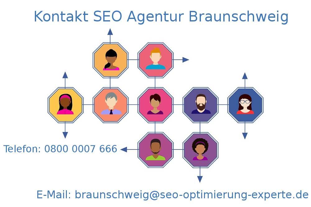 Auf dem Bild befinden sich die Kontakte Ihrer SEO Agentur Braunschweig