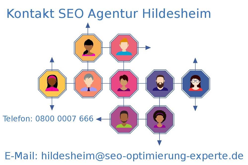 Auf der Collage finden Sie die Kontakte unserer SEO Agentur Hildesheim