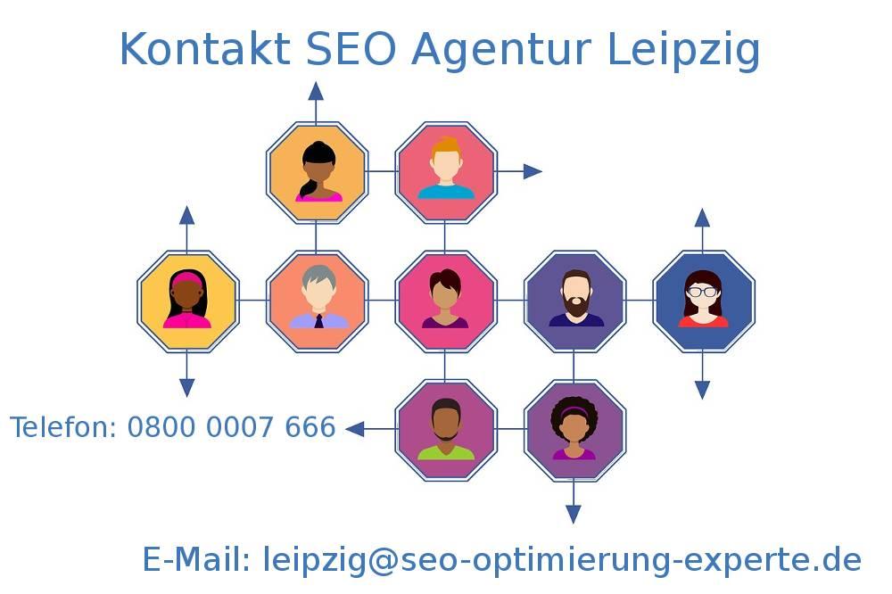 Auf dem Bild befinden sich die Kontaktdaten unserer SEO Agentur Leipzig