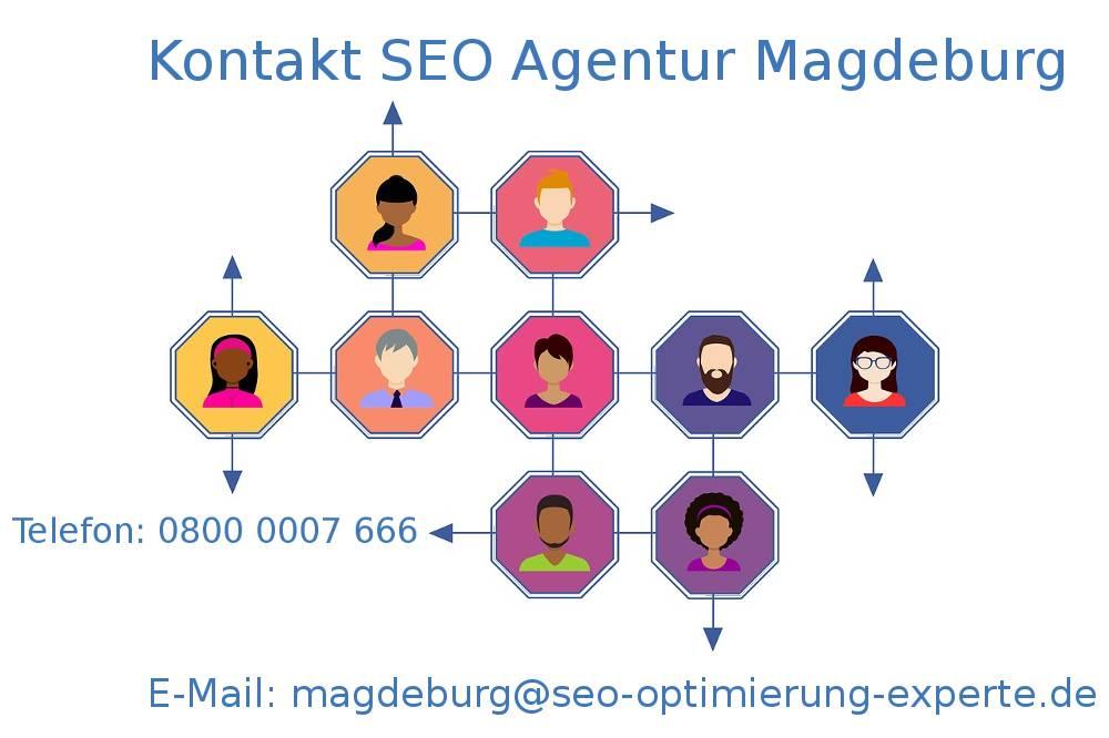 Auf dem Foto befinden sich die Informationen von der SEO Agentur Magdeburg