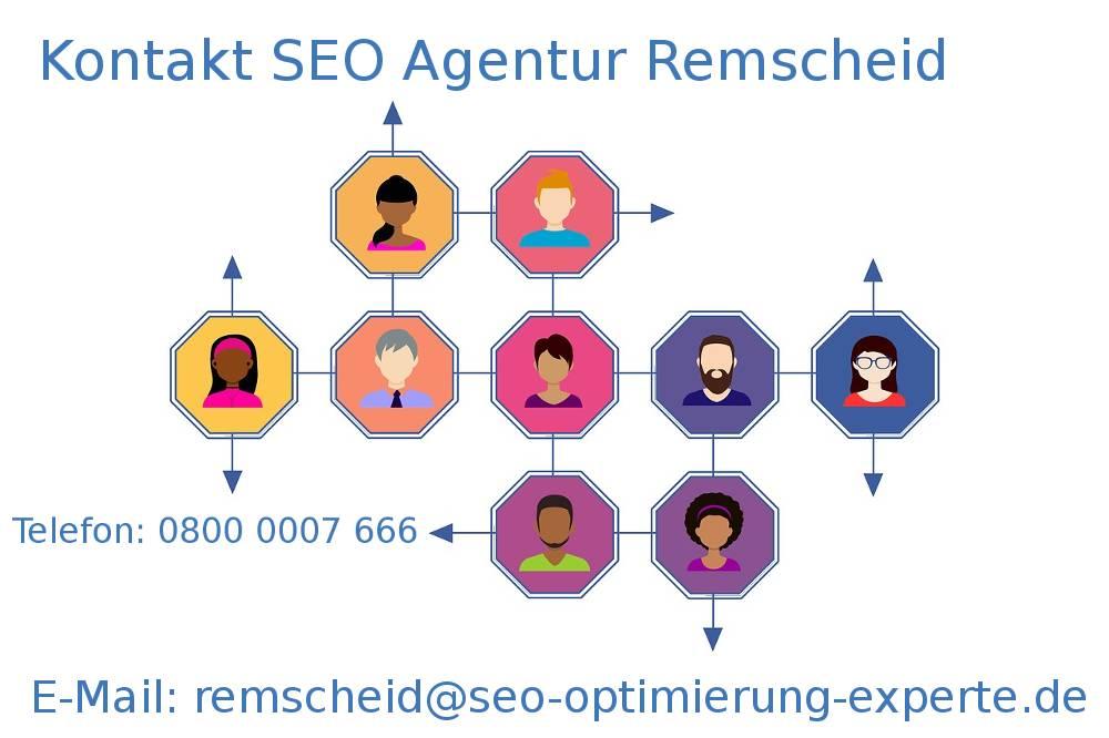 Auf dem Bildnis befinden sich die Kontaktdaten der SEO Firma Remscheid