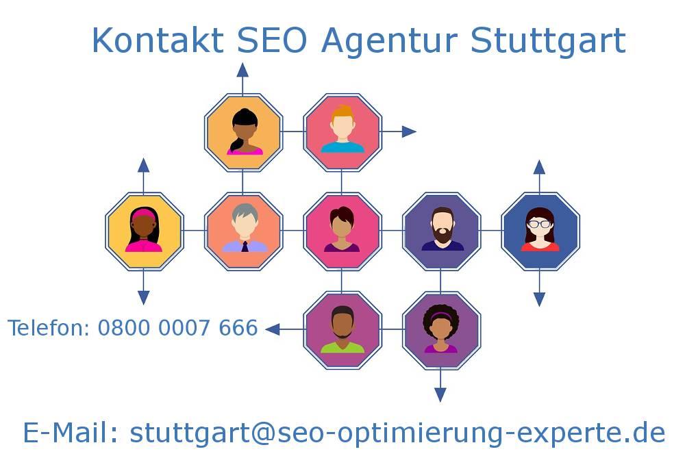 Auf dem Bild befinden sich die Infos der SEO Agentur Stuttgart