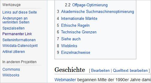 Bild Permalink Screenshot Wikipedia
