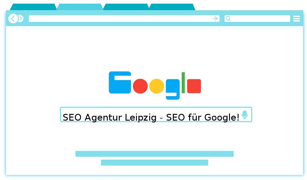 Auf der Grafik befindet sich der Slogan von der SEO Agentur Leipzig