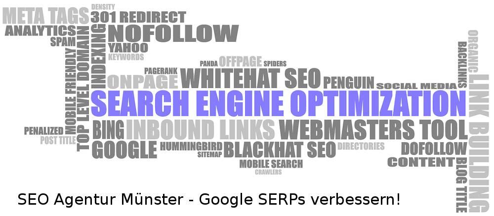 Auf der Grafik finden Sie das Schlagwort der SEO Agentur Münster