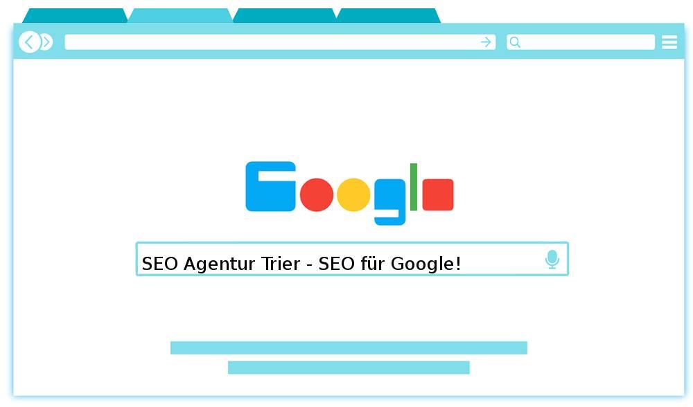 Auf dem Abbild befindet sich das Motto der SEO Agentur Trier