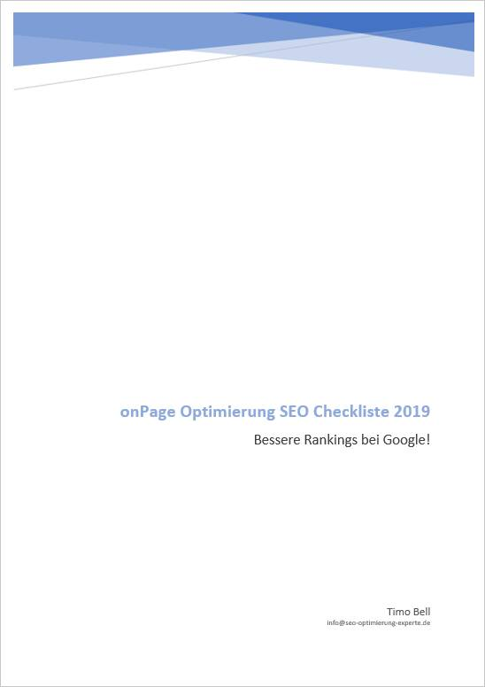 Deckblatt der SEO Checkliste als PDF Download
