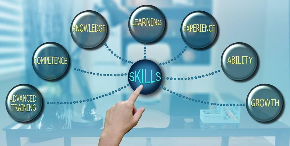 Grafik mit verschiedenen Begriffen rund um die Online Marketing Schulung im SOE-Bus sowie SEO Workshops vor Ort