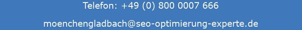 Darstellung der Kontaktdaten der SEO Agentur Mönchengladbach