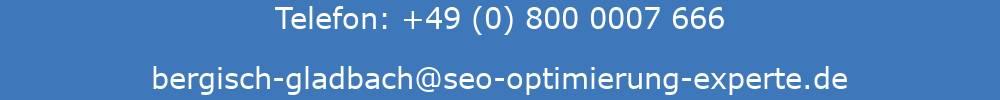 Auf dem Bild sind die Kontaktdaten der SEO Agentur Bergisch Gladbach ersichtlich