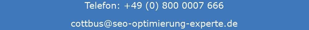 Collage mit der Telefonnummer und der E-Mail-Adresse der SEO Agentur Cottbus