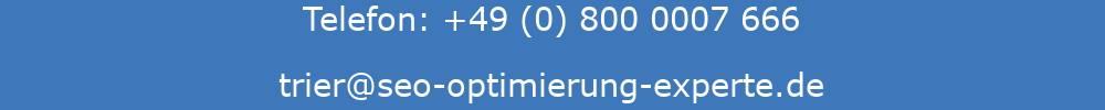 Auf der Abbildung sind die E-Mail-Adresse und die Telefonnummer der SEO Agentur Trier ersichtlich